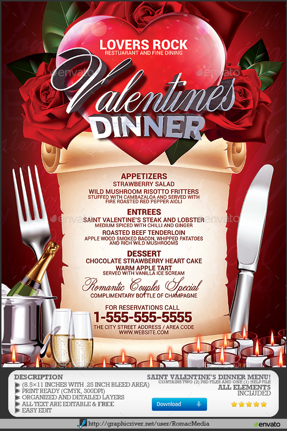 Valentines Day Dinner Recipes amp Menu Ideas 2017