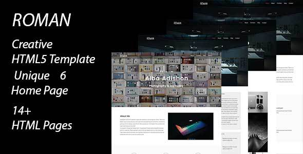 Roman creative portfolio template by usdtheme themeforest for Roman menu template