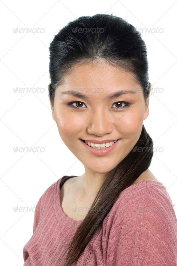 Beautiful young asian woman in her twenties. - Stock Photo - Images