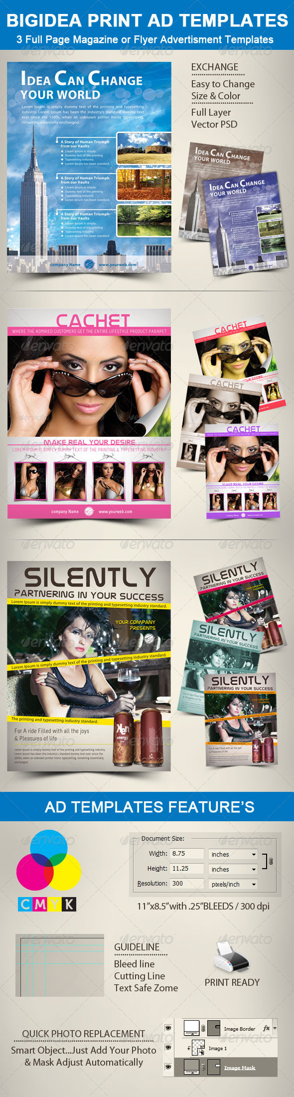 BigIdea Print Ad Templates - Commerce Flyers