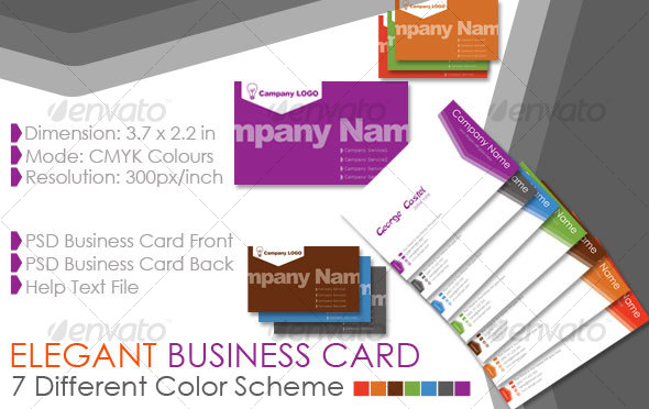 GraphicRiver Elegant Business Card 73312