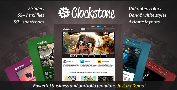 Clockstone - Ultimate Website Template