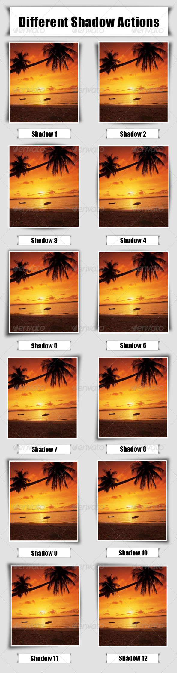 Shawdow Actions for Photos - Utilities Actions