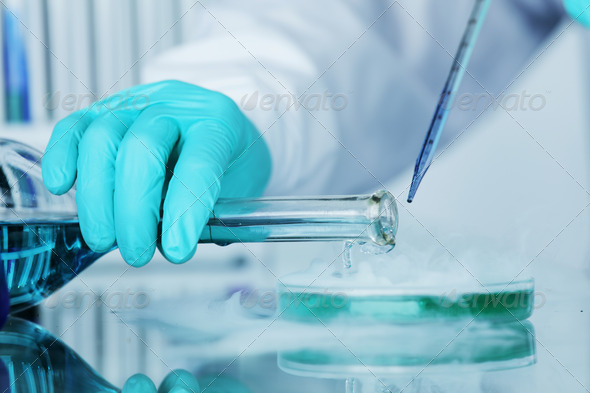 chemical experiment - Stock Photo - Images