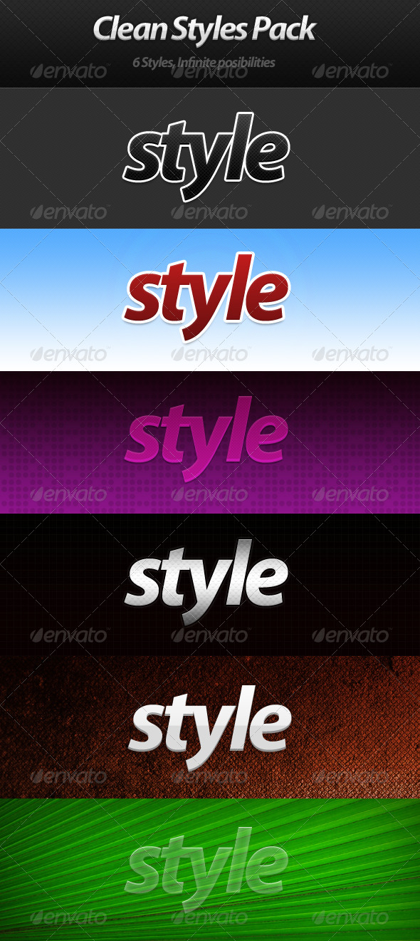 GraphicRiver Clean Styles Pack 222859