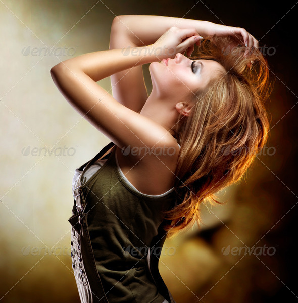 Fashion Dancing Girl - Stock Photo - Images