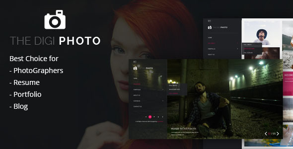 digiphoto uniqe and creative photography    resume    cv    portfolio    agency html template by