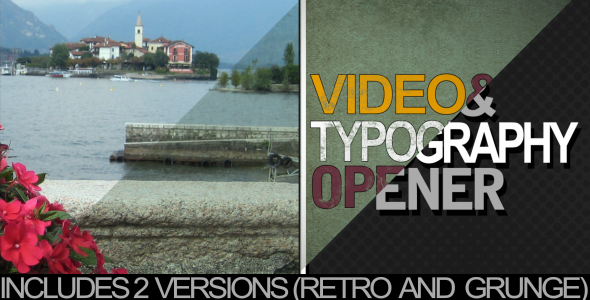 After Effects Project - VideoHive typography and video intro 223116