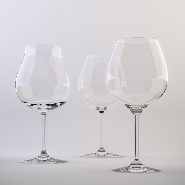 3DOcean Red Wine Glasses 223226