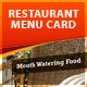 Restaurant Menu Card - GraphicRiver Item for Sale