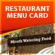 Restaurant Menu Card 设计素-Graphicriver中文最全的素材分享平台