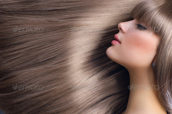 PhotoDune Blond Hair.Beautiful Woman with Healthy Straight Long Hair 1899235