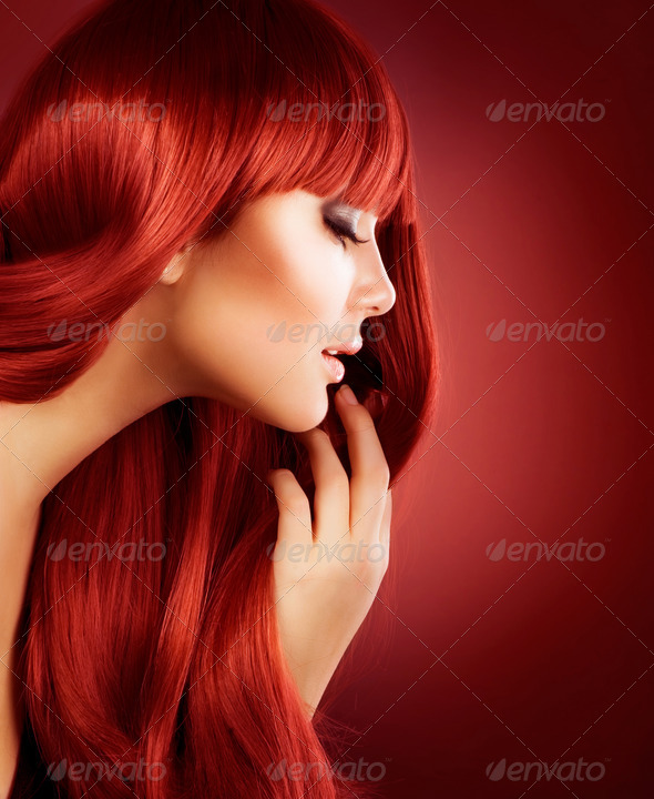 Beautiful Girl with Healthy Long Hair - Stock Photo - Images