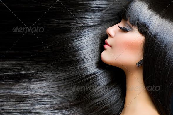 PhotoDune Beautiful Brunette Girl Healthy Long Hair 1899239
