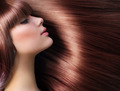Brown Hair. Beautiful Woman with Healthy Long Hair - PhotoDune Item for Sale