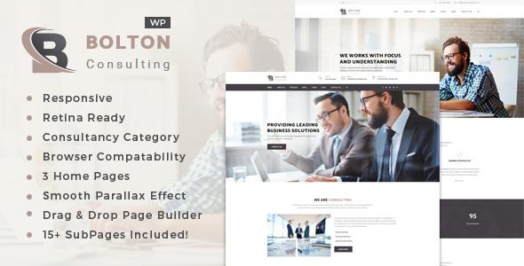Bolton: Consultancy WordPress Theme