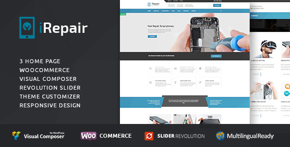 cellular repair center wordpress theme nulled