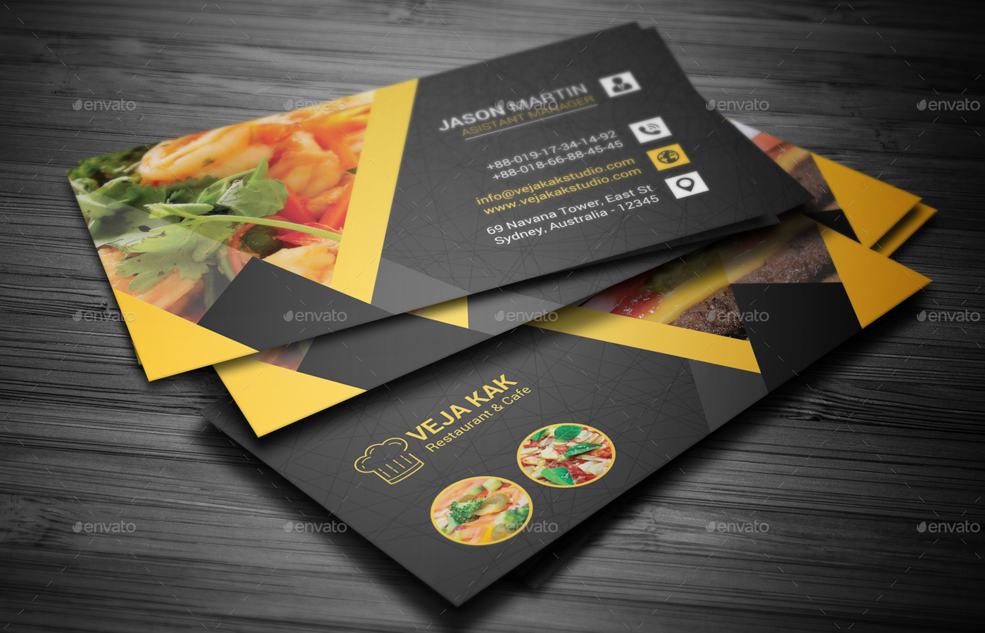 Restaurant Business Card Templates  Canva