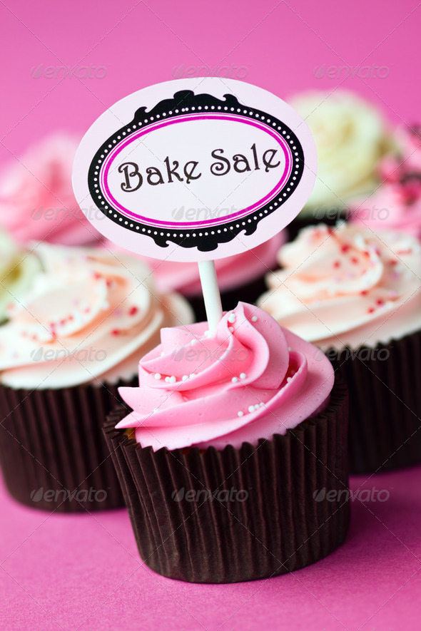 Cupcakes for a bake sale - Stock Photo - Images