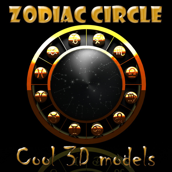 Zodiac Circle Sings - 3DOcean Item for Sale