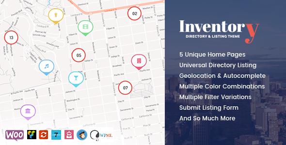 Inventory – WordPress Directory Theme