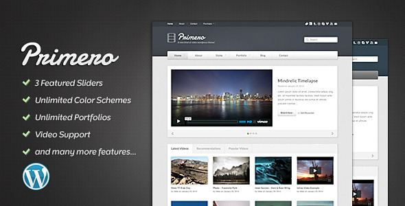 Primero - Video WordPress Theme - Portfolio Creative
