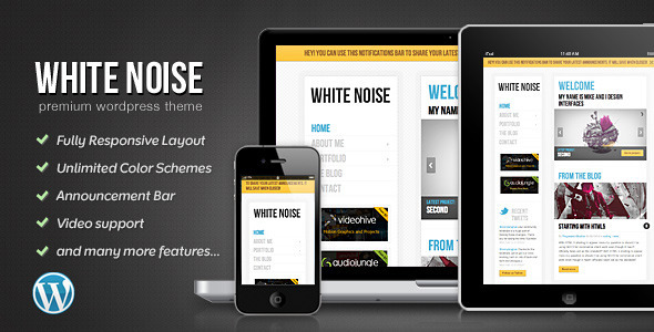 White Noise - Responsive WordPress Theme - Portfolio Creative