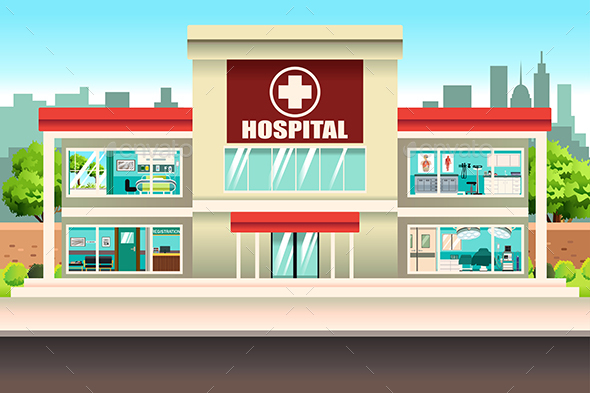 Stunning hospital building vector photos