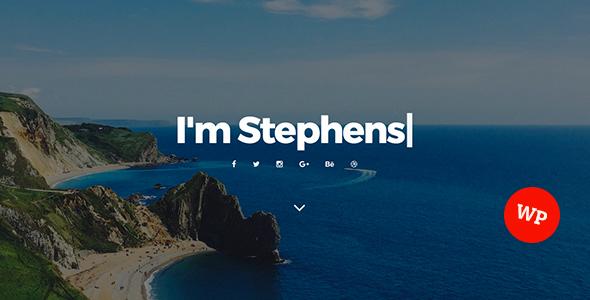 Stephens – Personal Portfolio WordPress Theme