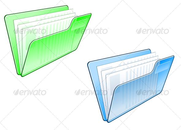 GraphicRiver Computer folder symbol 73943