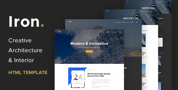 Iron – Architecture, Interior and Renovation Template