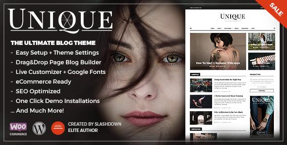 Unique – Personal & Magazine WordPress Responsive Blog Theme