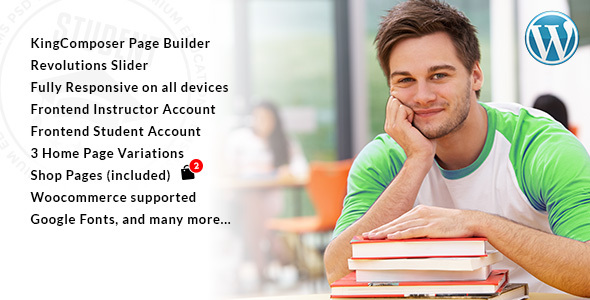 Student – WordPress Theme for University and Online Learning Management System