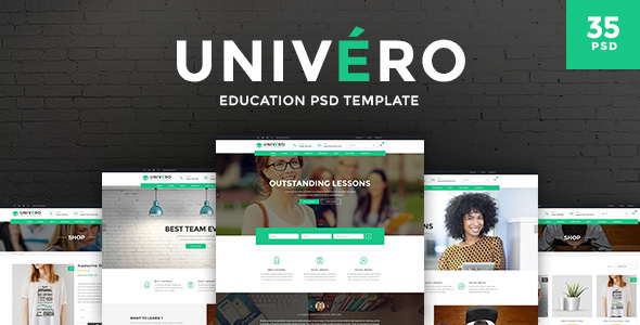 Univero – Education PSD Template