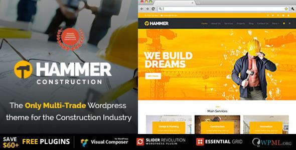 IT Hammer – Construction WordPress Theme