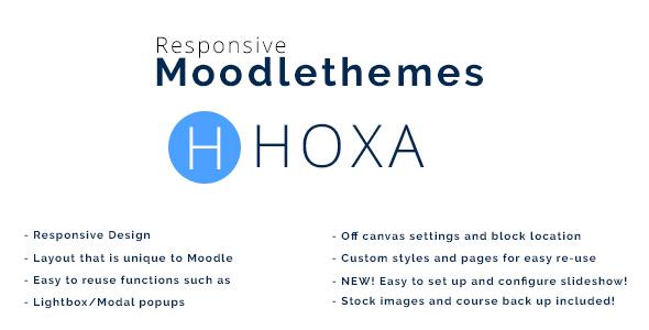 Hoxa – Responsive Moodle Theme