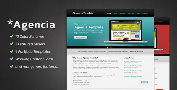 ThemeForest Agencia 10 in 1 Portfolio and Business Template 126481