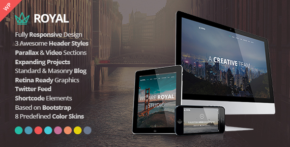 Royal - Responsive One Page Parallax WordPress Theme by AthenaStudio