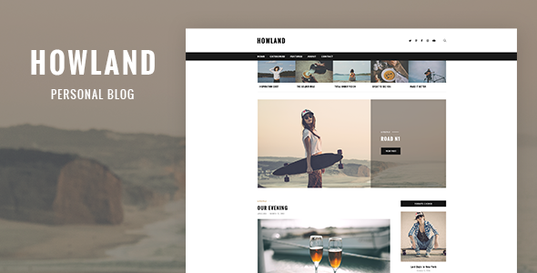 Howland – Personal Blog Template