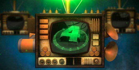 After Effects Project - VideoHive SteamPunk 3D TV 1919210