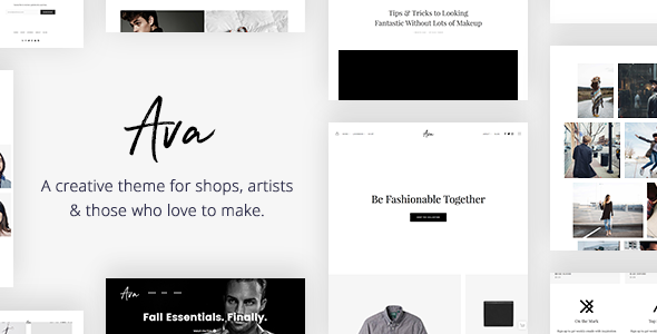 Image result for Ava - Creative Shop WordPress Theme