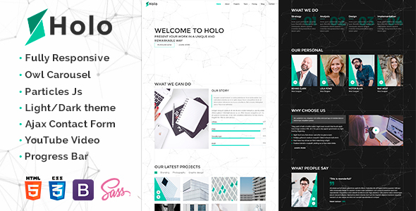 Holo – Landing Page Template