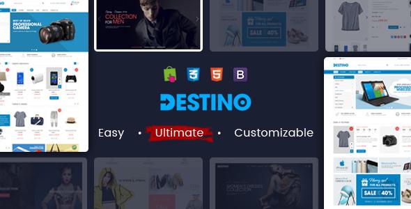 Destino – Responsive Multipurpose WooCommerce WordPress Theme