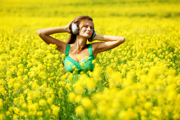listening to music - Stock Photo - Images