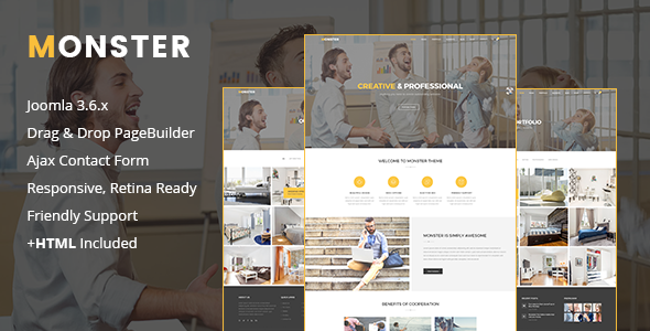 Monster | Creative Business Joomla Template
