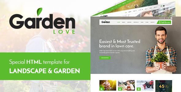 Garden Love – Landscaping & Gardening HTML Template