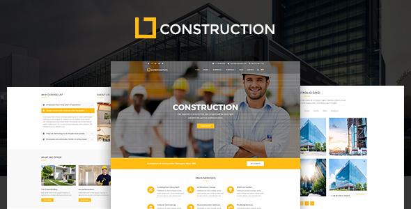 Construction – Construction Company, Building Company Template