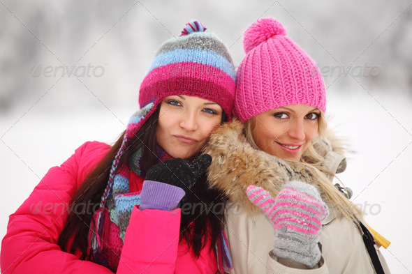 winter women - Stock Photo - Images