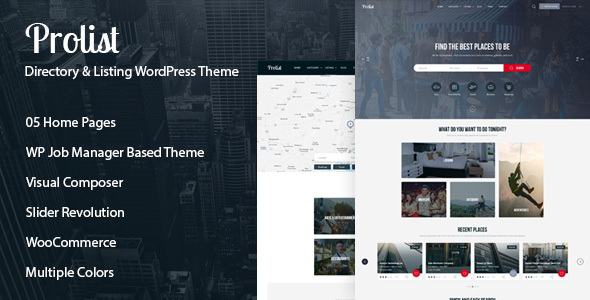 Prolist – Directory & Listing WordPress Theme
