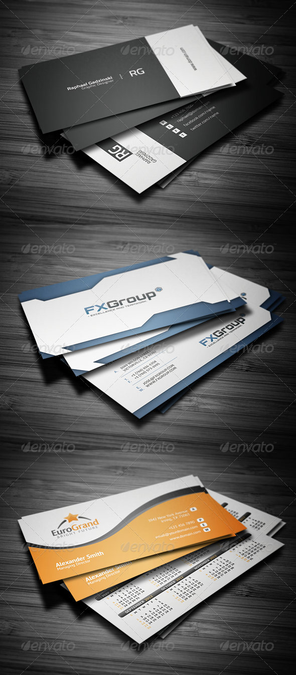 Business Cards Bundle #1 - Corporate Business Cards